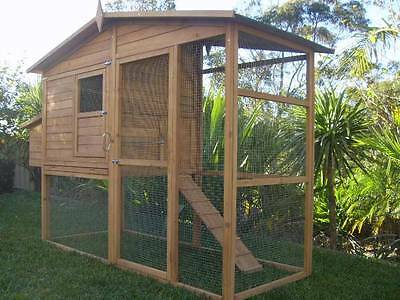 Chicken Coop EXTRA LARGE Somerzby MANOR Rabbit Hutch Cat Enclosure Run ASSEMBLED