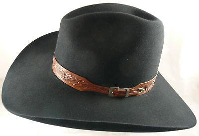 1818420ef 8x 80% Black Beaver Cowboy Hat ~ Best Quality Hats by Rand's Custom -  Quigley II | eBay
