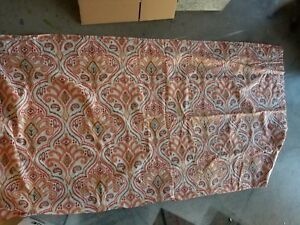 Image Is Loading World Market 034 Orange Ikat 72 X