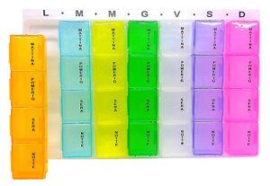 PortaPillole-Settimanale-INTE-Contenitore-per-Pillole-con-7-Giorni-28-Scomparti