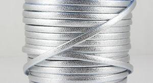 1 M Nappalederband-argent Métallique - 3 X 1,5 Mm-bijoux Fabrication Ue-ware-afficher Le Titre D'origine