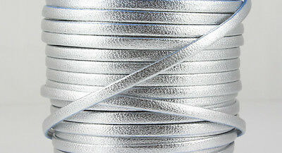 schwarz 3 x 1,5 mm 1 m Nappalederband Schmuck herstellen EU-Ware