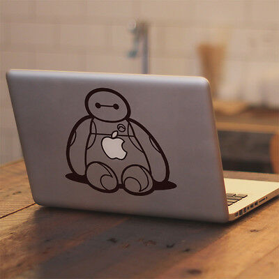 "Big Hero 6 Baymax Sit for Apple Macbook Air Pro 13 15 17"" Vinyl Decal Sticker"