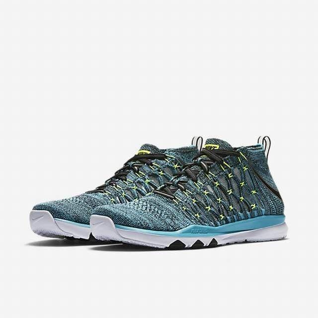 Nike zug ultraschnelle flyknit, männer - größen 10 d, gammaBlau / schwarz / weiß / volt.