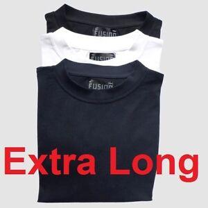 Mens extra long plain cotton T-shirt big & tall plus size nightwear pyjamas vest