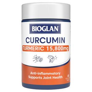 Bioglan Clinical Curcumin 60 Tablets Potent Anti-Inflammatory Turmeric 15800mg