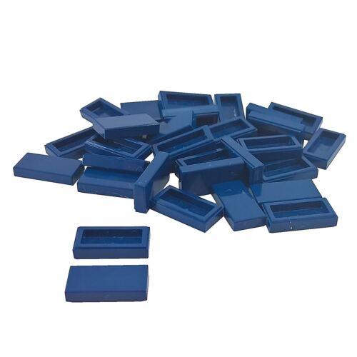 35 NEW LEGO Tile 1 x 2 BRICKS Dark Blue