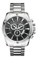 Marc Ecko Mens The Flash Chronograph Coin Edged Bezel Black Dial Watch M20020G2