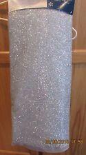 """Jaclyn Smith 52"""" Christmas Tree Skirt Sparkly Light Blue - NWT!"""
