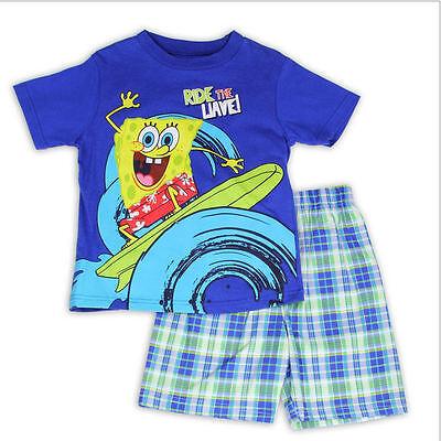 Toddler Girls Plaid Shorts /& shirt SPONGE BOB Yellow 12 Mo 18 Mo 24 Mo 2T 3T 4T