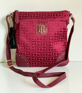 NEW-TOMMY-HILFIGER-RED-NORTH-SOUTH-CROSSBODY-SLING-MESSENGER-BAG-PURSE-69-SALE