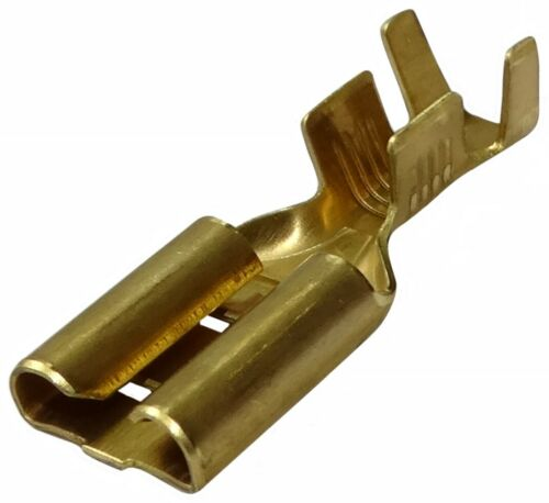 Klemme 100 x Kabelschuhe Kabelschuh flach 9.5mm 1.2mm 3-6mm2 weiblich