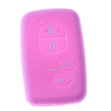 Red Silicone Case Cover For Toyota Venza Reiz Remote Smart Key 3 Button TOYGN3RE