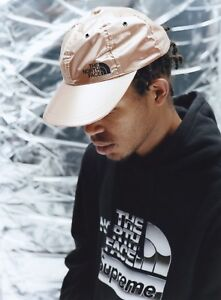 92378278bc3 Supreme x The North Face TNF Rose Gold metallic 6-panel Hat Cap