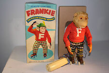 1950's Battery Operated Frankie the Roller Skating Monkey with Box