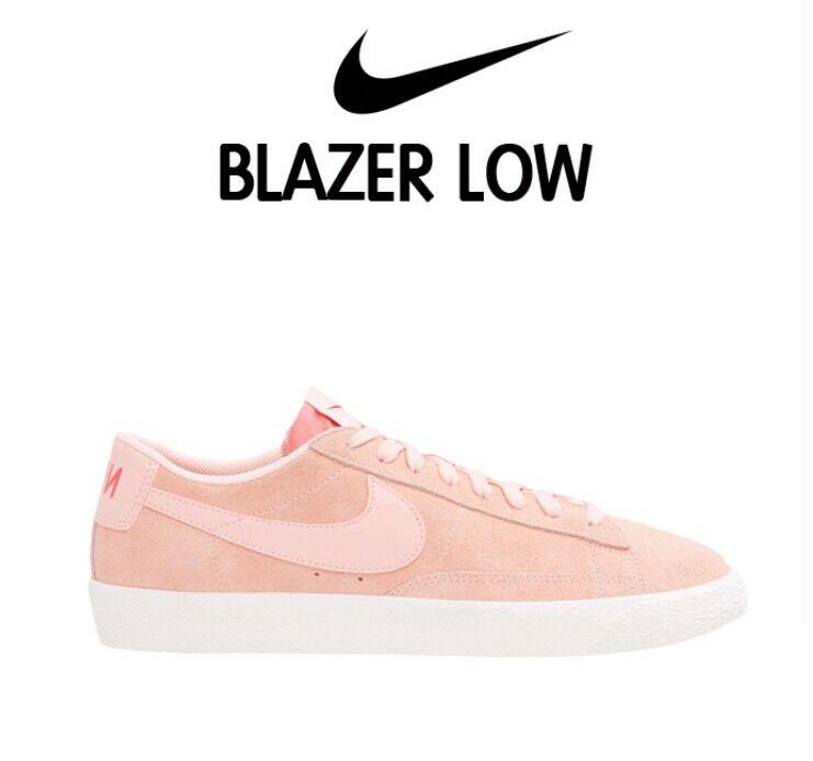 Nike Blazer Low Pink Artic Orange Sz 9.5 Mens Shoes Sneakers Trainers 371760-801