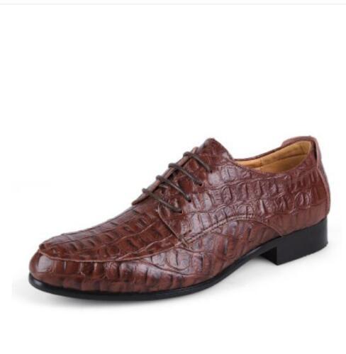 Hommes en Cuir Véritable Robe Formelle Chaussures en relief marron noir derbies 3 couleurs plus Sz