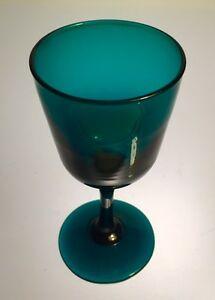 Peacock Green Holland Wine Glass #3 Antique