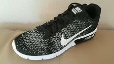 Nike Air Max Sequent 2 Running Mens Shoes Black/Dark Grey Wolf white Size  9.5
