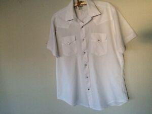 44ec8293 Image is loading Vintage-Ruddock-Bros-Short-sleeve-Western-white-Pearl-