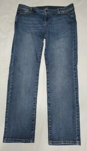 J-Jill-Womens-Stretch-Blue-Straight-Slim-Boyfriend-Jeans-Size-10-Petite