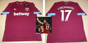 brand new 454ad 5f3fa Details about Javier CHICHARITO Hernandez signed autographed 2019 West Ham  United Jersey PROOF