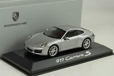 2015 Porsche 911 991 Carrera S Coupe GT silver silber metallic 1:43 Herpa WAP