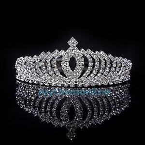 Wedding-Bridal-Princess-Rhinestone-Crystal-Hair-Accessory-Tiara-Crown-Hairband
