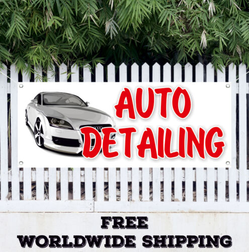 Banner Vinyl Auto Detailing Advertising Flag Sign Many Sizes Car Wash Wax Signs
