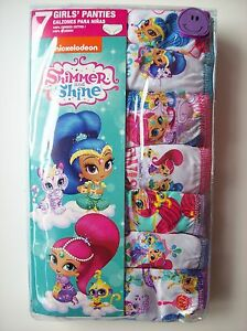 5d4851fdae Shimmer and Shine Underwear Underpants Girls 7 Pr Panty Select Sz 4 ...