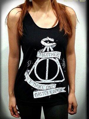 Deathly Hallows Shirt SN Harry Potter Summer Tshirt Tank Top Sleeveless Black