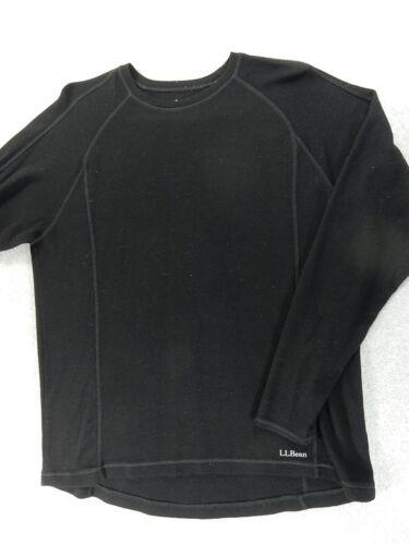 LL Bean Midweight 100% Merino Wool Crew Shirt (Men