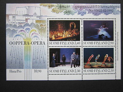 Postfrisch Gutherzig Finnland 1993 Minr Eröffnung Des Opernhauses Helsinki Block 10