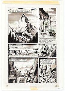 Adventurers #7  (1987) Page 1 Original Comic Art Peter Hsu ** Tolkien Hobbit