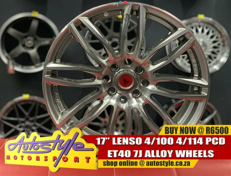 17inch Lenso 4-100-114 pcd Et40 Center bore 73.1 7J all round R6500  Autostyle Motorsport now offers