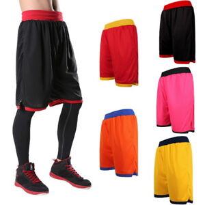 Men-Fitness-Shorts-Basketball-Gym-Running-Sport-Pants-Compression-Shorts-AU-NEW