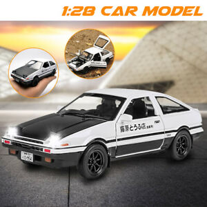 Initial-D-Metal-For-Toyota-AE86-1-28-Car-Model-Toy-With-Sound-Light-Toy