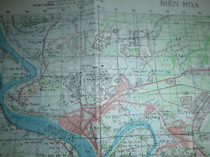 MAP 6330 i BIEN HOA AIRBASE LONG BINH POST GIA DINH Rare