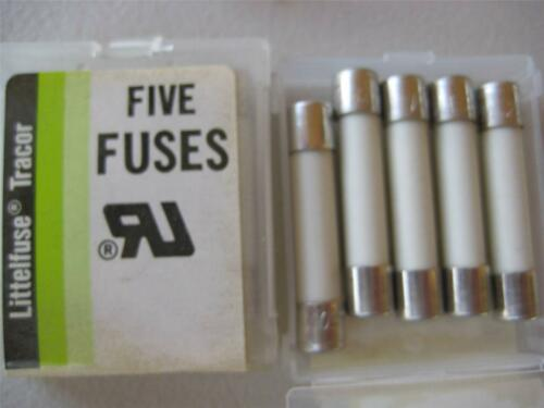 5X Littelfuse Fuse 322 1 1-1//4 8 10 12 15 or 30 Amp 65 or 250 V NOS Fast Blo 3AB