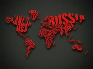 World map of words glossy poster picture photo globe earth cool city image is loading world map of words glossy poster picture photo gumiabroncs Image collections