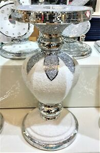 Silver-Mirrored-Table-Stand-Mosaic-Romany-Bling-66cm-Home-Decor-Gift