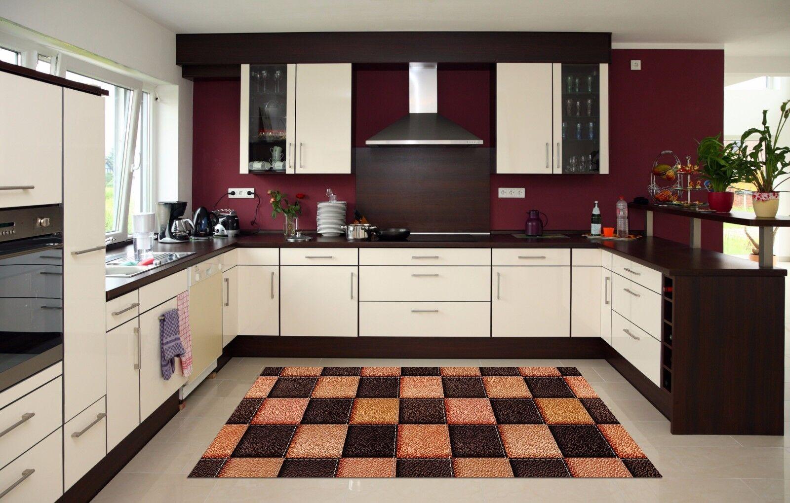 3D Leder Grid39 Kitchen Mat Floor Murals Wall Print Wall Deco AJ WALLPAPER UK