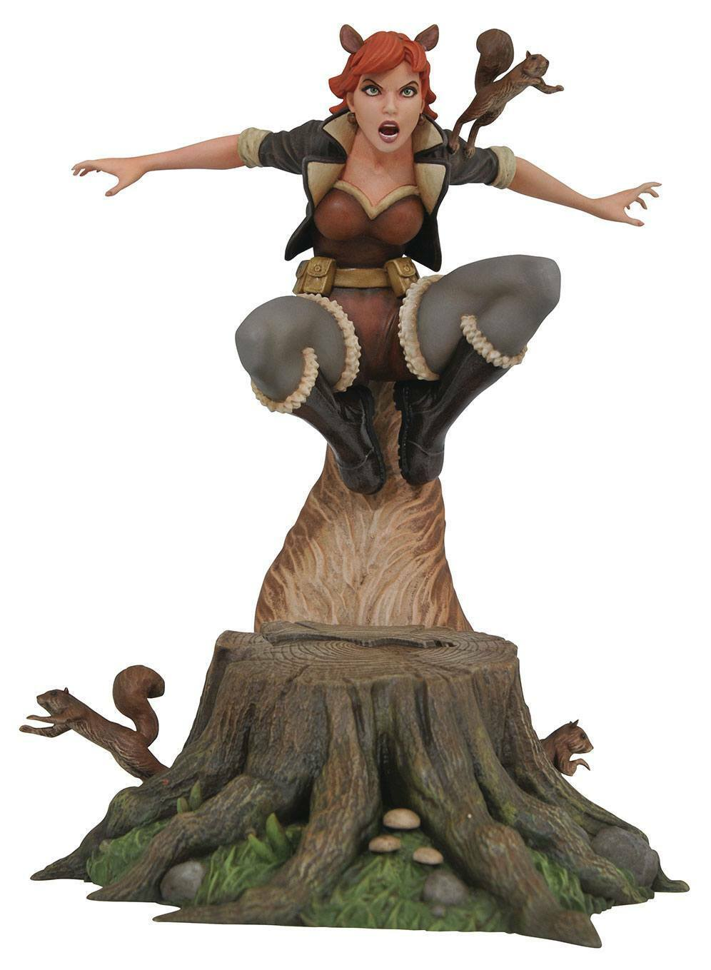SQUIRELL GIRL STATUE MARVEL COMIC GALLERY DIAMOND SELECT 25 CM