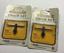 2 Jacobs 14 Amp 38 Drill Chuck Key 14 Pilot 99101