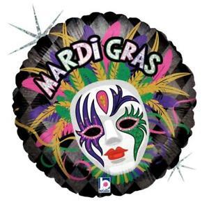 Mardi-Gras-Mask-Holographic-18-034-Foil-Balloon