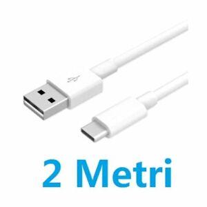 CAVO-DATI-USB-2-mt-TIPO-C-3-1-TYPE-C-XIAOMI-MI-9T-REDMI-NOTE-7-8-PRO-Carica-Fast
