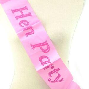 2pcs Rose élégant Enterrement Vie Jeune Fille Écharpe Soirée Entre Filles Mariée Décoration Accessoires-afficher Le Titre D'origine Bas Prix