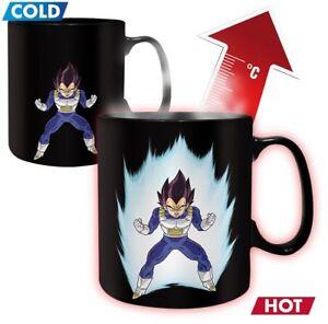Tasse Changement Couleur Avec Chaleur Dragon Ball Z Vegeta Heat Change Ebay