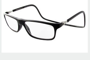 3774982a812 Image is loading CliC-BIG-LENS-EXECUTIVE-Reading-Glasses-Magnetic-SNAP-