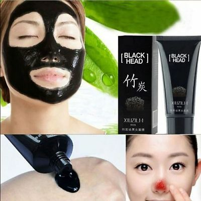 Bamboo Charcoal Blackhead Remover Deep Cleansing Peel Black Face Mask Cream